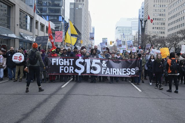 Minimum Wage march