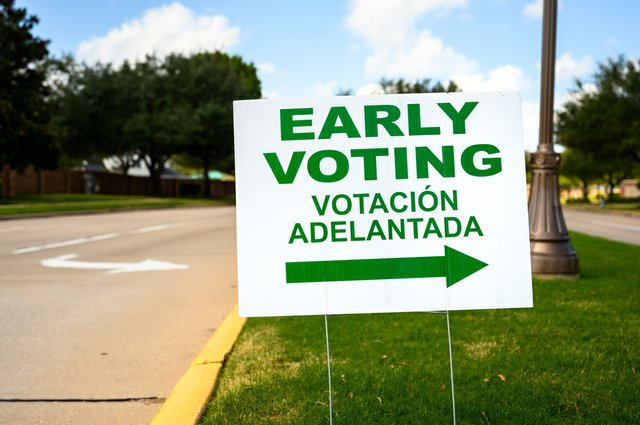 Early voting sign, spanish