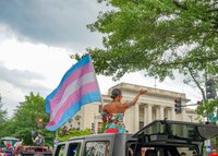 trans flag government building
