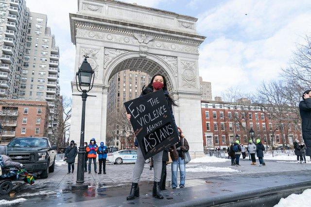 Asian American Protestor