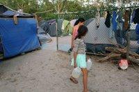 Asylum seekers camp
