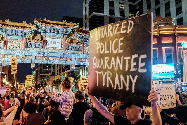 dc chinatown police tyranny